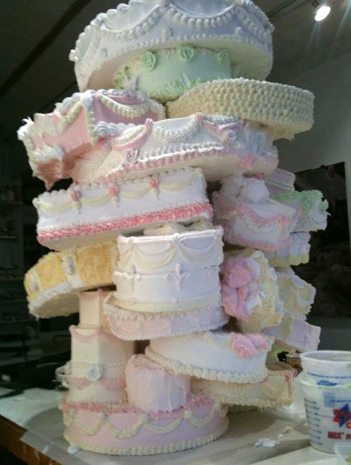 Tiered cakes are built to withstand hours on display at the event Of course your recipes for fillings and icings will determine this more than anything